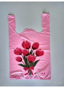 """Пакет майка """"Тюльпаны"""" 30х50"""