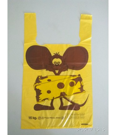 """Пакет майка """"Мышь с сыром"""" 30х50"""