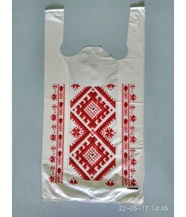 """ПАКЕТ МАЙКА """"Украина орнамент"""" 30Х58"""