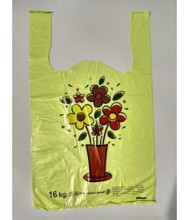 """Пакет майка """"Цветы в вазе"""" 30х50"""